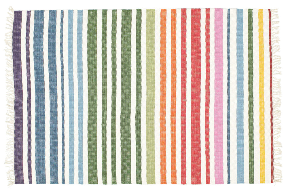 Rainbow Striped Rug - Rugvista