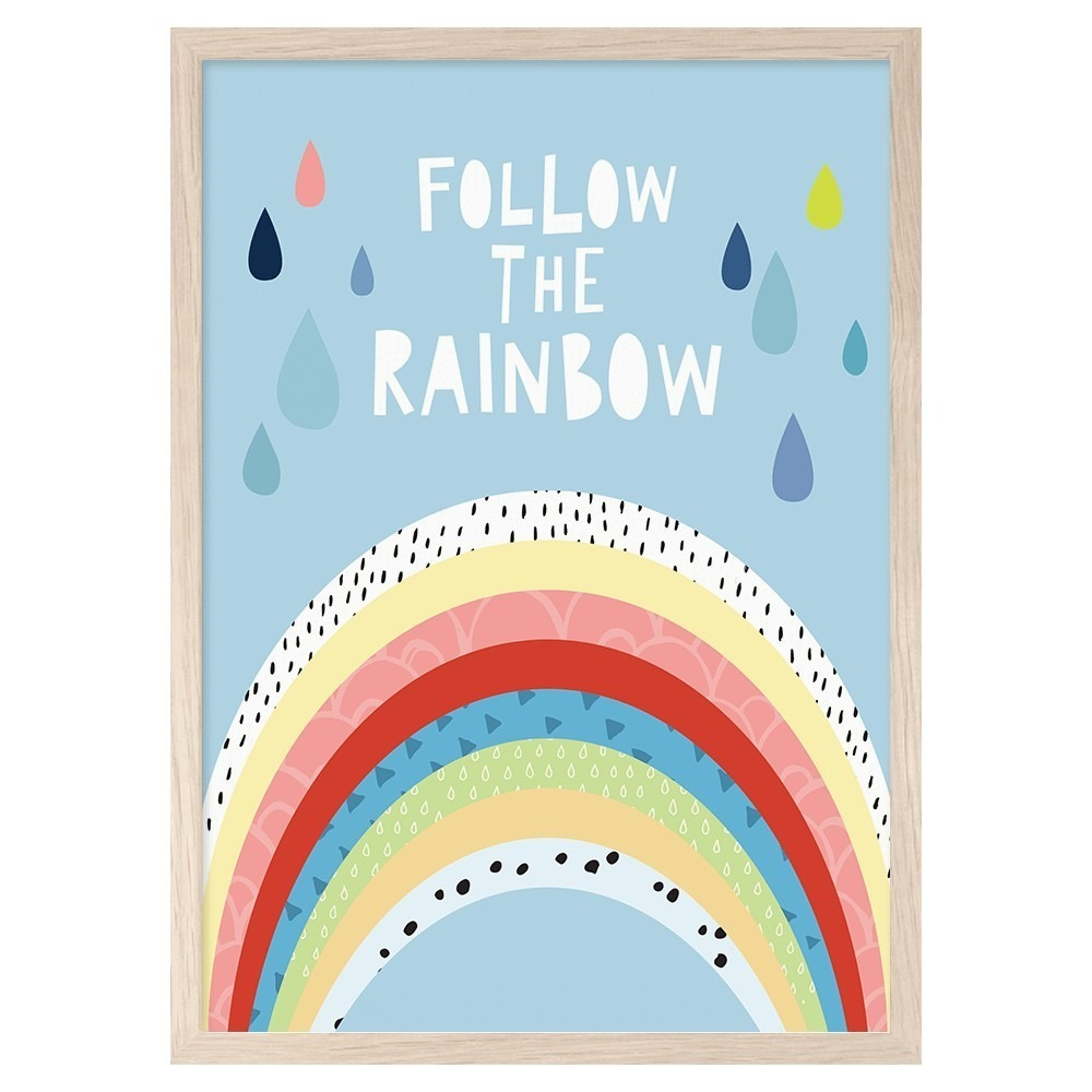 Follow The Rainbow print - Lullaby.co.uk