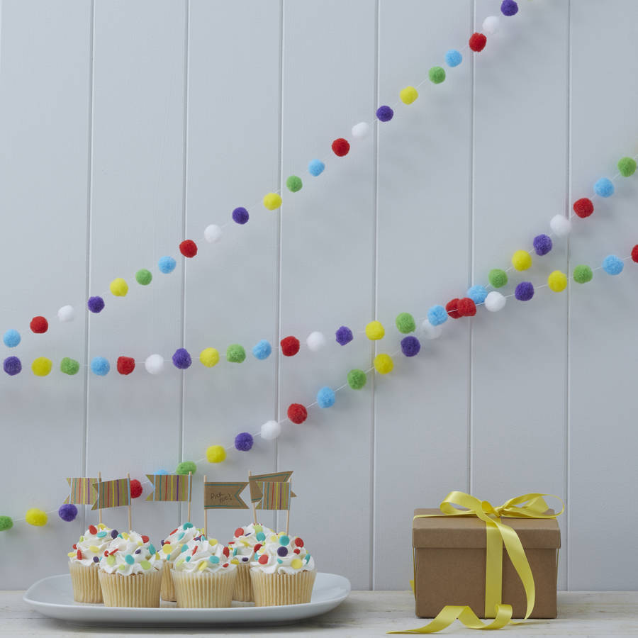 Pom Pom Three Metre Garland Decoration by GINGER RAY
