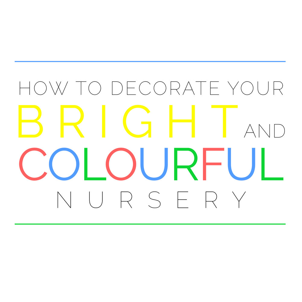 bright and colourful nursery logo