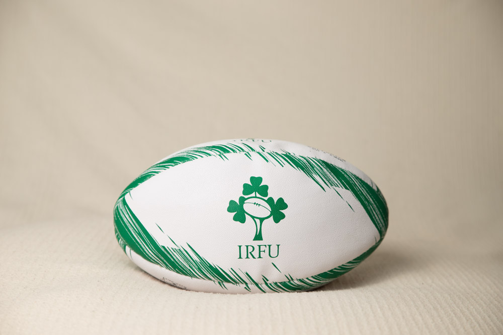 newborn baby photography - unedited image of rugby ball