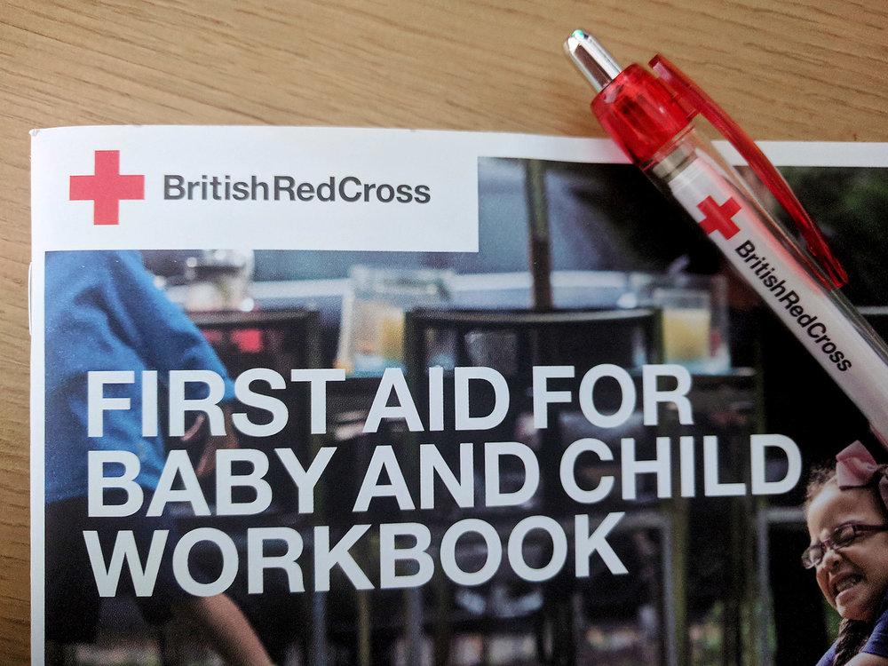 british red cross training workbook