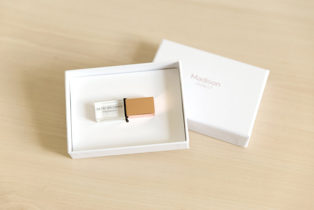 personalised rose gold usb