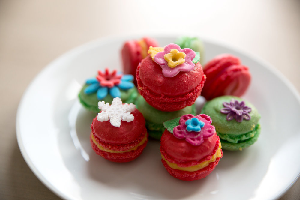 Hand decorated Macarons
