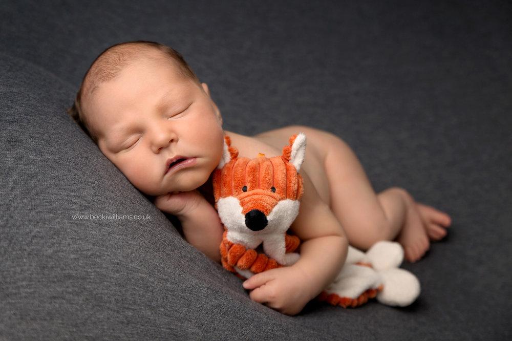 newborn-photographer-in-hertfordshire-boy-cute-asleep-fox.jpg