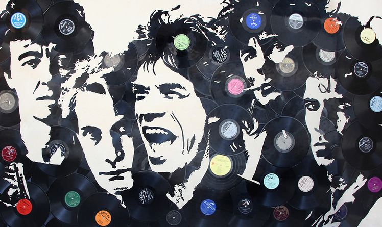 """Rolling Stones"" by Mr Brainwash (Los Angeles) - Represented by New York Gallery (Tokyo)"