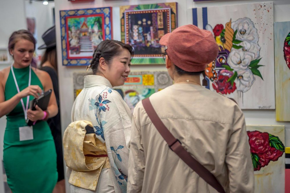 VISITORS | Visitors  Find out about our international art events, our organization, and the results of our experience making the art collector feeling unique.  About the fair that is held as an art event that can be enjoyed by collectors as they can be purchased as well as viewed works.         Learn More →