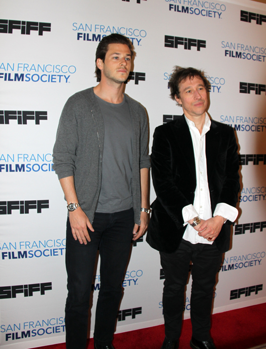 Gaspard Ulliel and Bertrand Bonello at San Francisco International Film Festival.