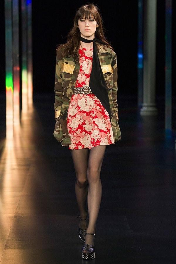 Saint Laurent Spring 2015 A nod to YSL's original Safari jacket.