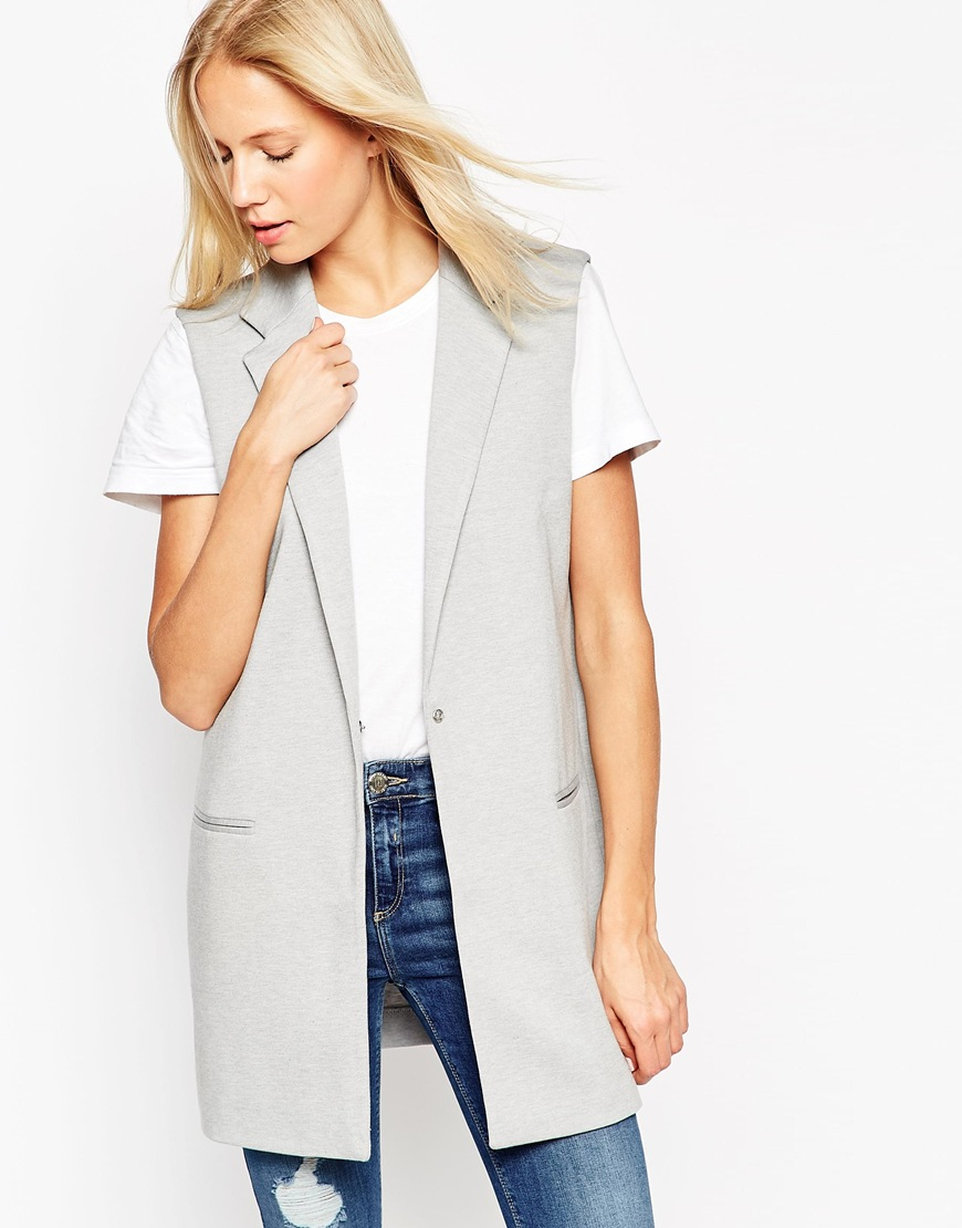 Sleeveless Ponte Blazer $69.00