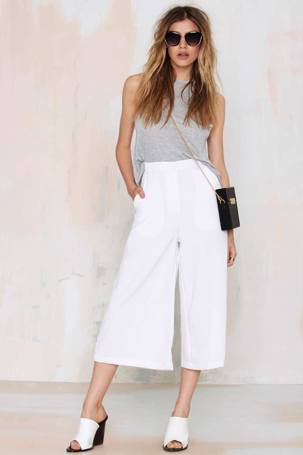 Last Call Culotte Shorts - White $58.00