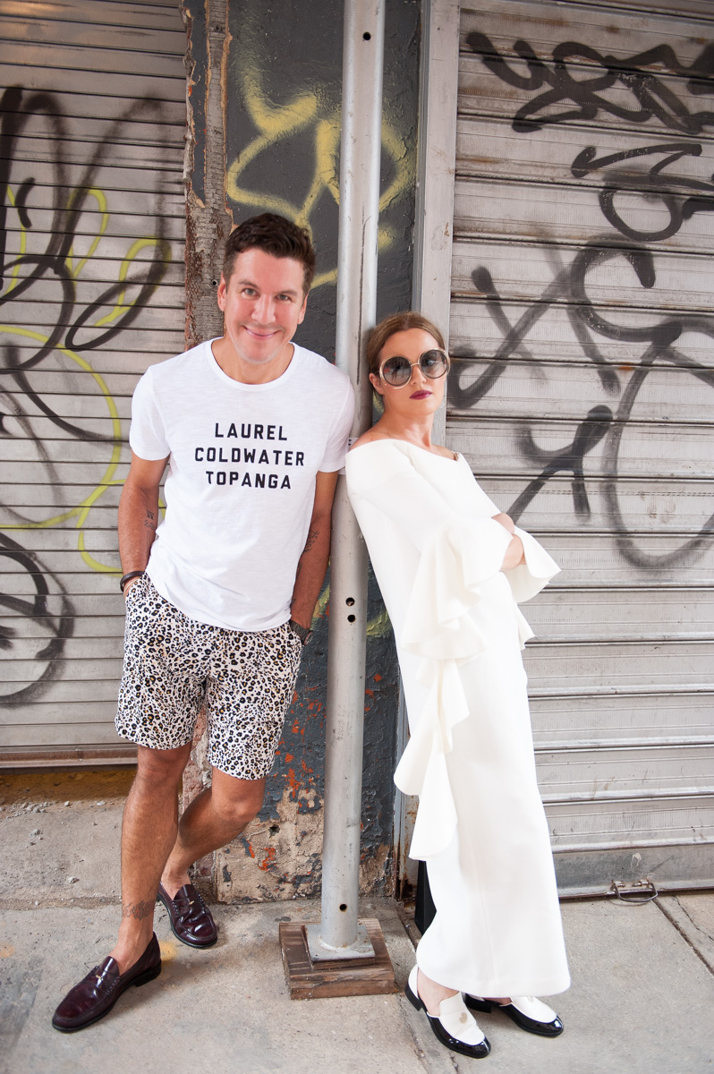 Paper Magazine Editor-At-Large - Peter Davis and Founder of JOLIEGAZETTE - Juliet Belkin. Photo by  Lauri Levenfeld. TPFW