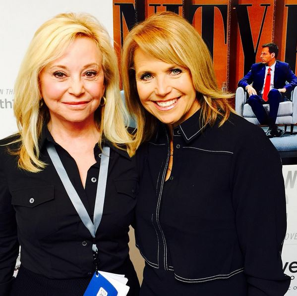 Julie Weinwright and Katie Couric