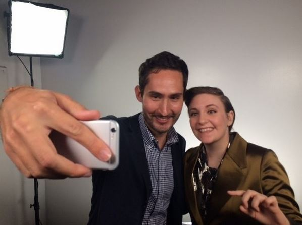 Kevin Systrom and Lena Dunham