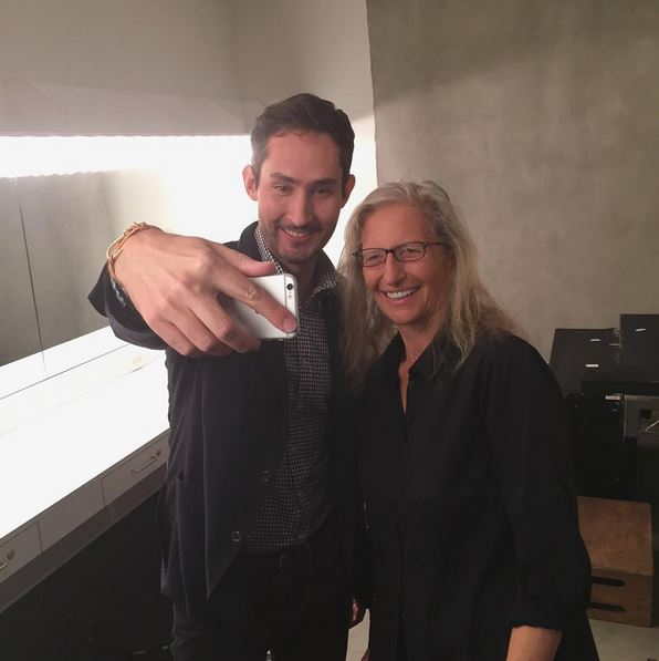 Kevin Systrom and Annie Leibovitz