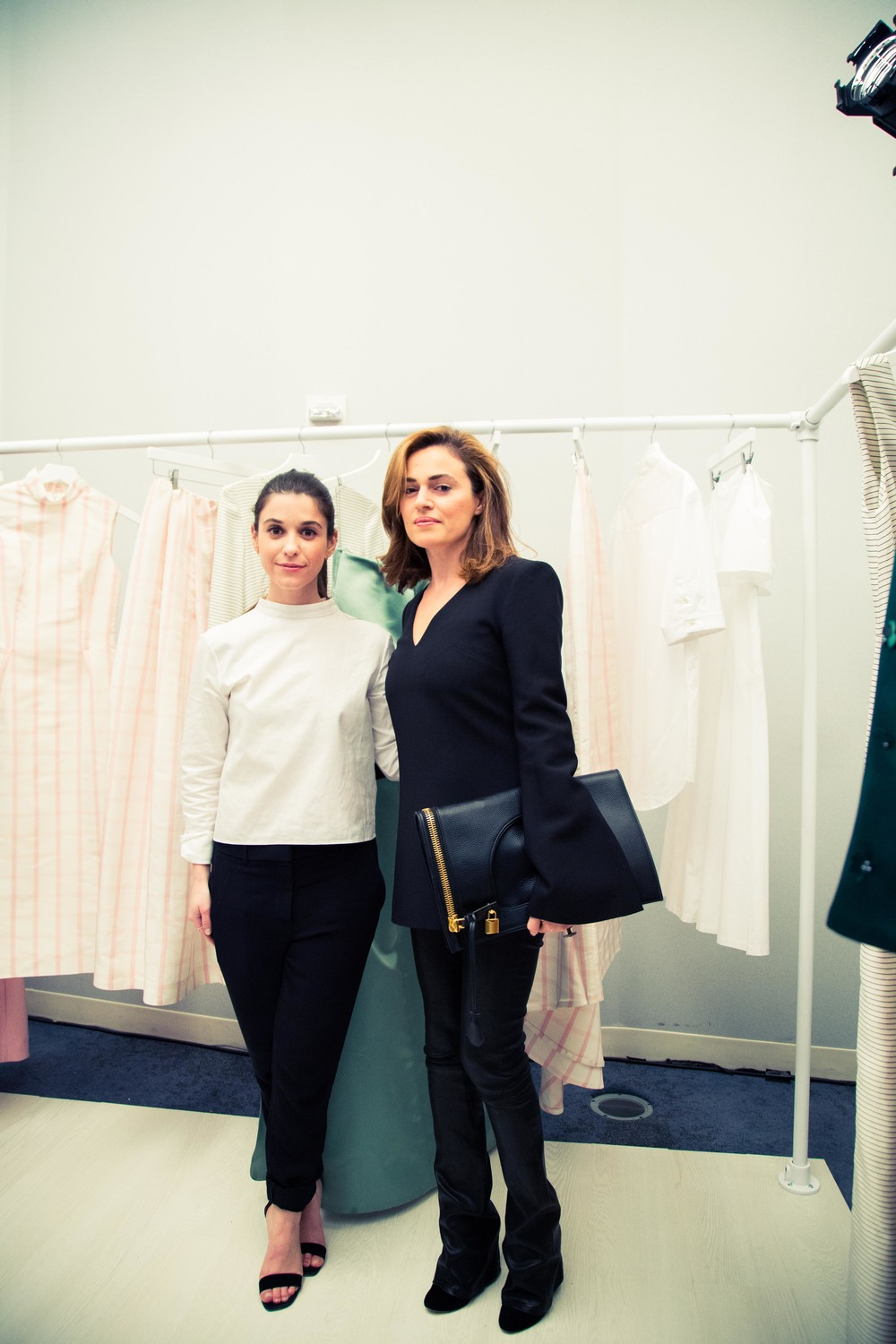 Designer Katie Ermilio and Founder JOLIEGAZETTE, Juliet Belkin. Photo by Adam Beck.