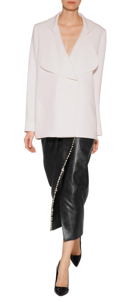 EMILIA WICKSTEAD Faux Leather Wrap Skirt with Crystals. CLICK IMAGE TO SHOP