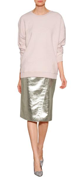 MSGM Canvas Lamé Pencil Skirt. CLICK IMAGE TO SHOP