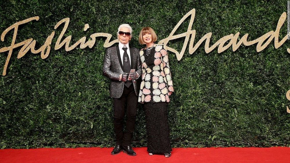 Karl Lagerfeld and Anna Wintour