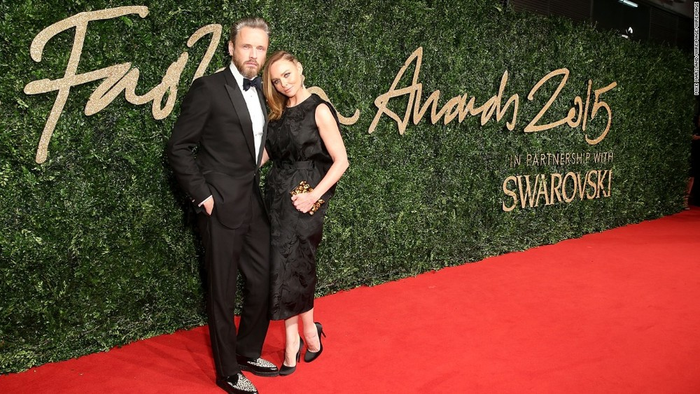 Brand of the year winner Stella McCartney and husband Alasdhair Willis