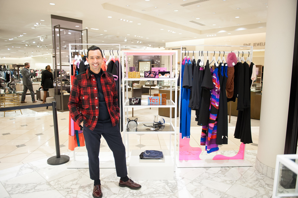 Raul Becerra at Nordstrom San Francisco store. Photo by Lauri Levenfeld