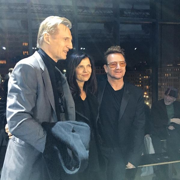 Liam Neeson, Ali Hewson and Bono at Edun