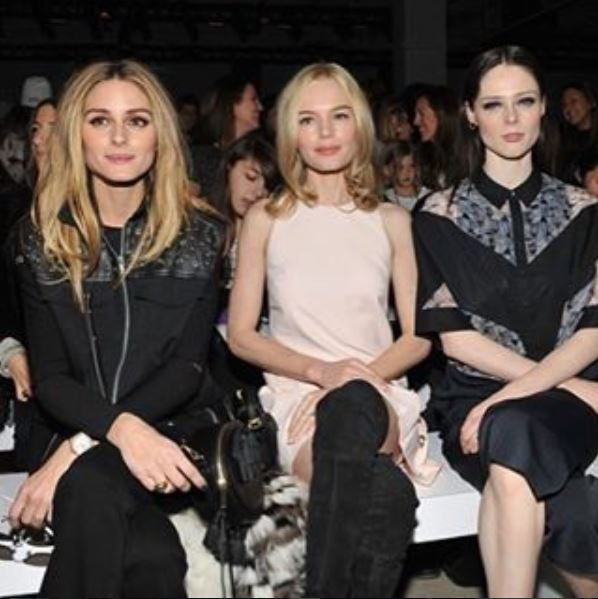 Olivia Palermo, Kate Bosworth and Coco Rochas at Rebecca Minkoff front row