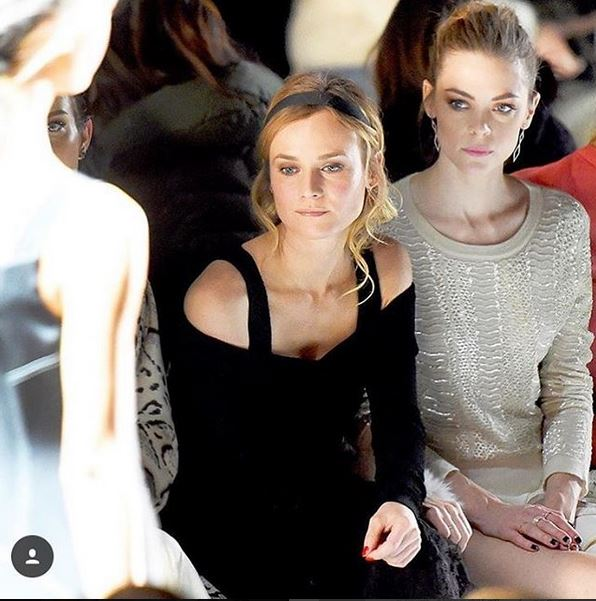 Diane Kruger and Jamie King at Prabal Gurung