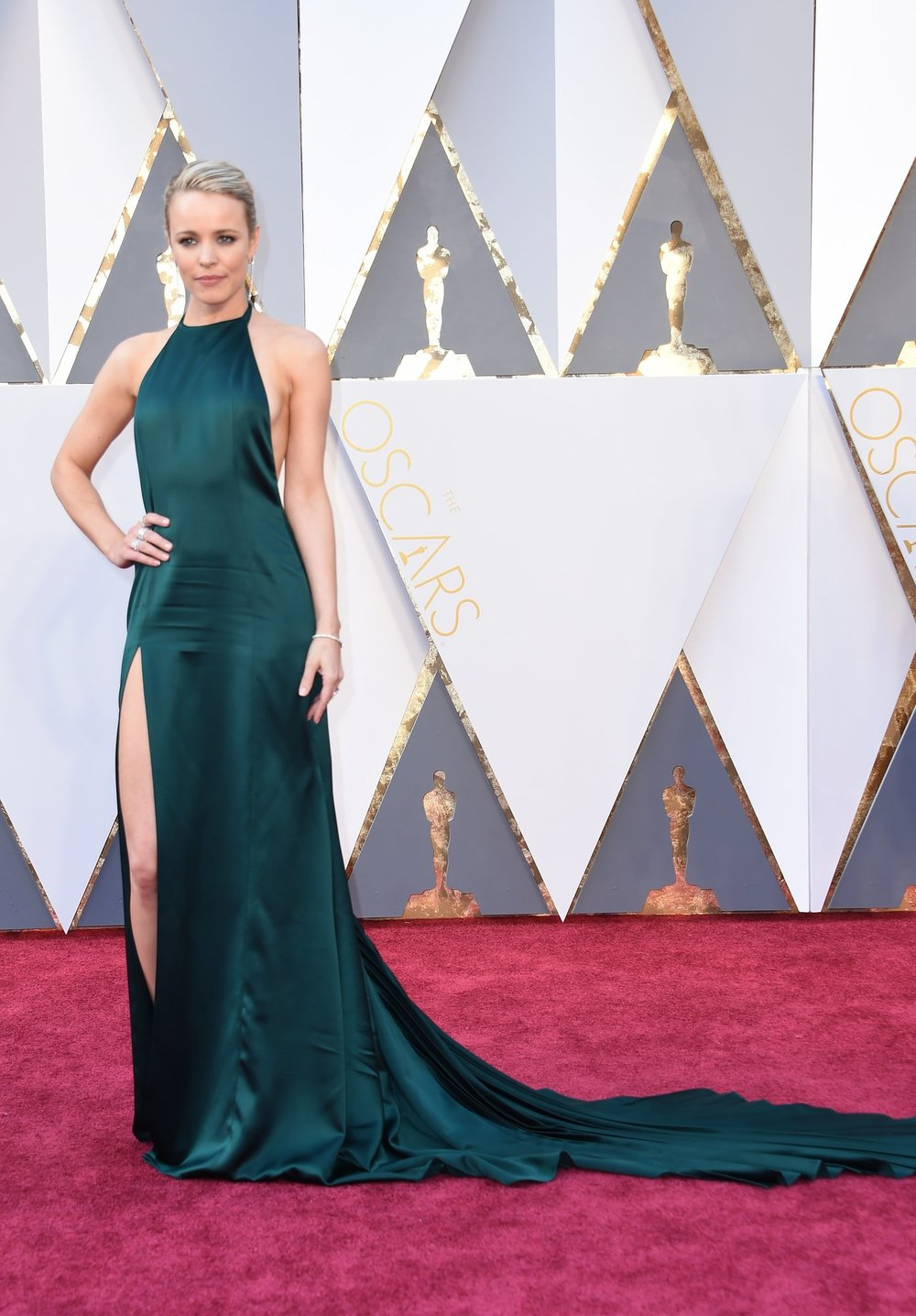 Perhaps too simple for the occasion Rachel McAdams in August Getty Atelier.