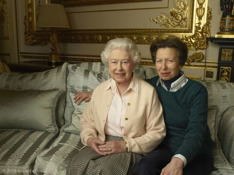 Her highness with her only daughter, Princess Anne.