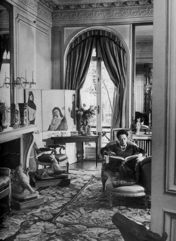 Elsa Schiaparelli at home.