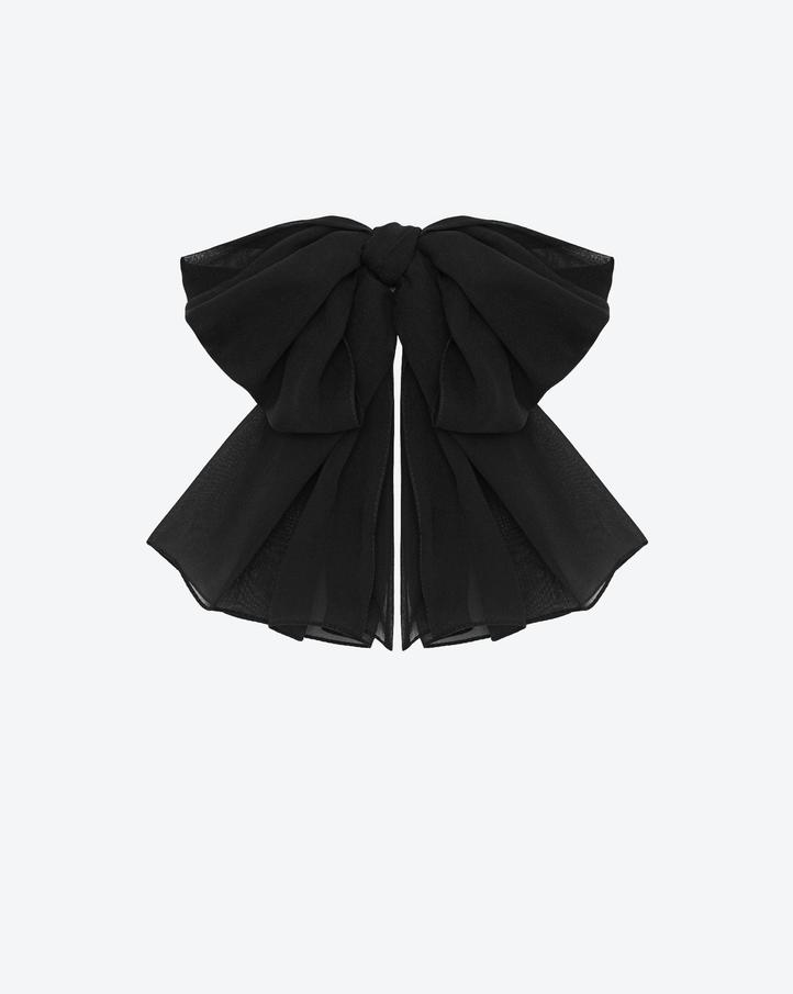 shop Saint Laurent signature large bow