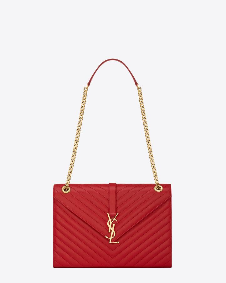 shop Saint Laurent classic large monogram satchel