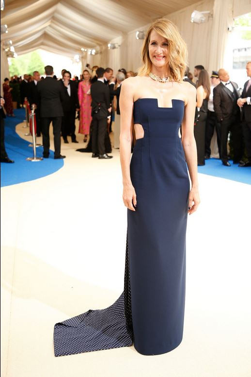 Laura Dern wearing Gabriela Hearst. -