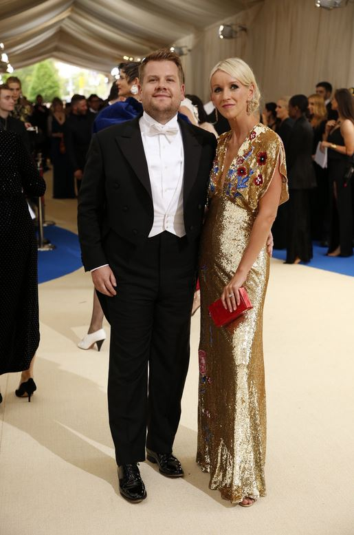 James Corden and Julia Carey -