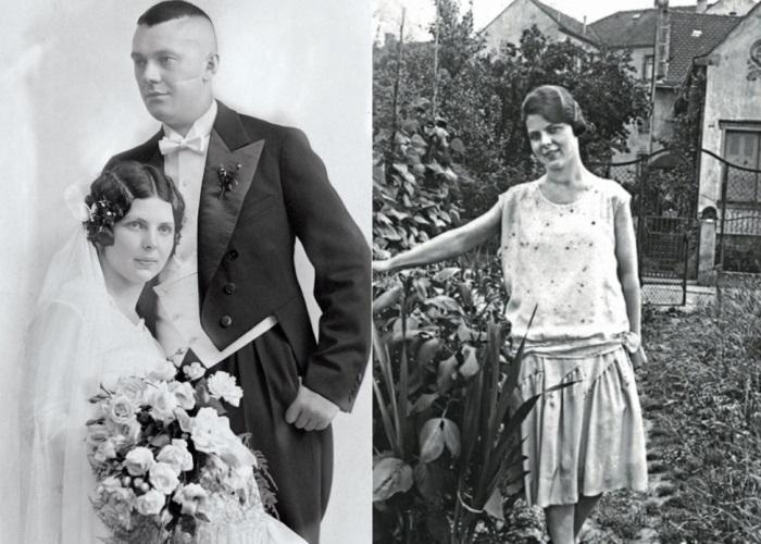 Aenne Burda and her husband.