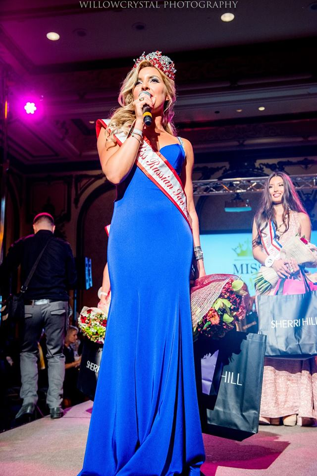 1st place  and a title of Miss Russian San Francisco 2017 went to Maria Joukovskaya born in Krasnodar, south of Russia. Maria is a professional International Ballroom Dancer. She graduated from Kuban State University in 2006, majoring in World Economy. Maria is a founder of dance school teaching Social and Ballroom International styles for kids and adults. She's been the choreographer for the Equinox Salsa Team and worked for TV show 'Dancing with the Stars'.