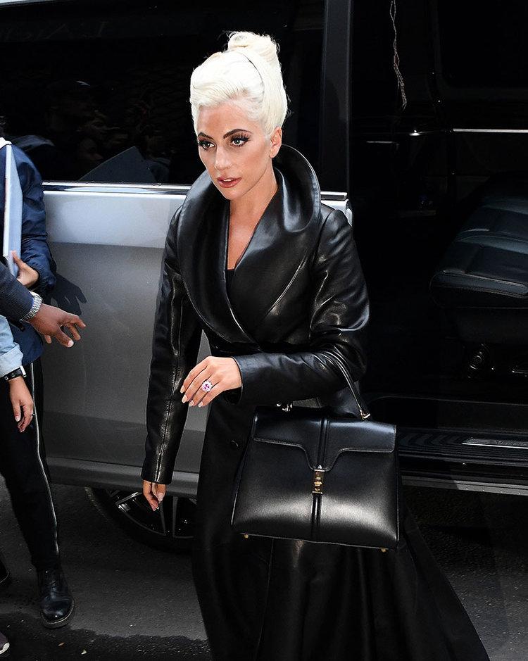 Lady Gaga shows Heidi Slimane s First Bag for Céline — JOLIEGAZETTE 8317c95b259e1