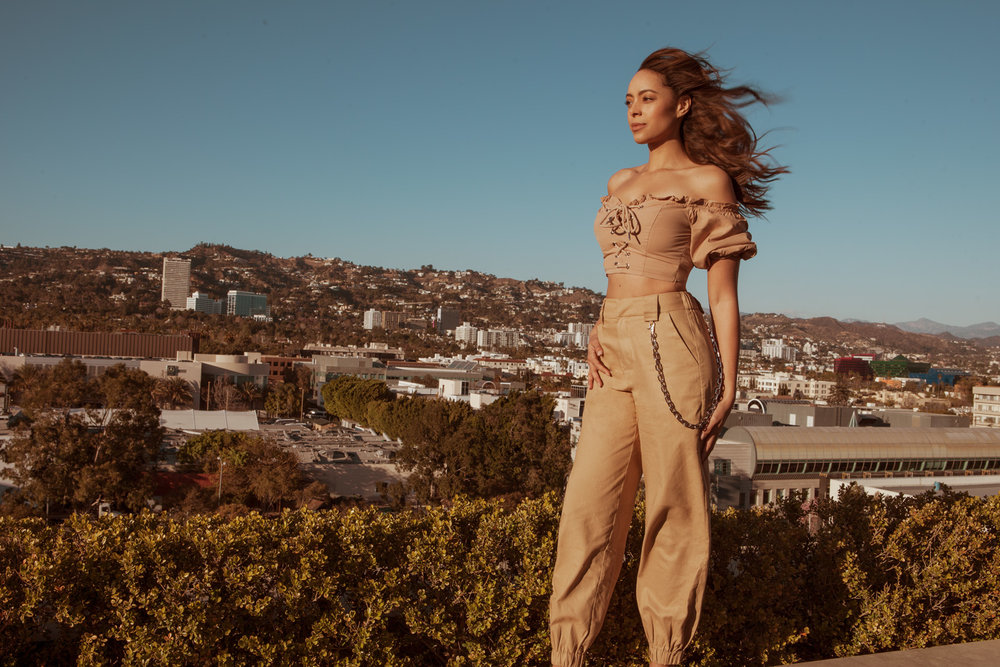 On Amber top and pants by  i.am.Gia