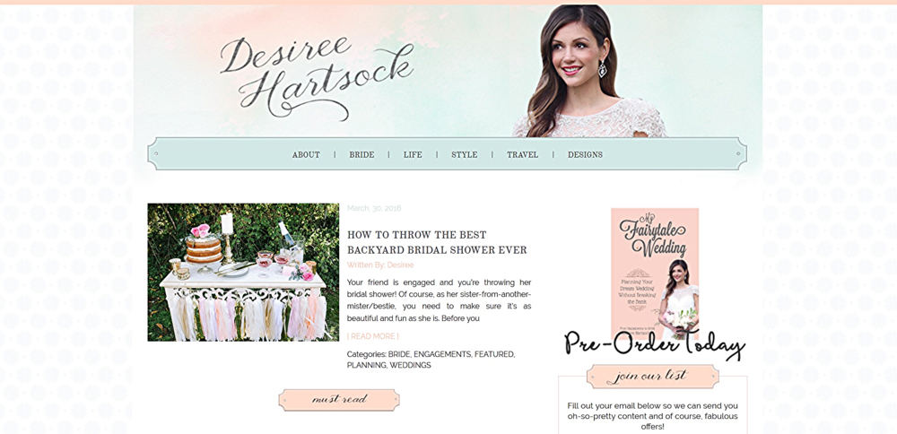 Desiree Hartsock Bridal Shower Inspiration