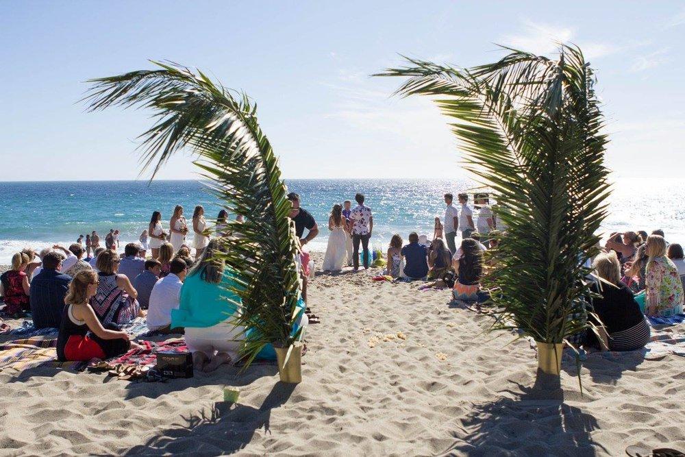 boho beach real wedding malibu