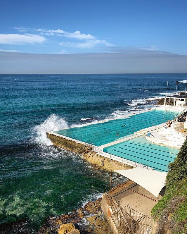 Wouldn't you rather be riding out this heatwave in this gorgeous ocean water-filled pool? I took this photo in Bondi Beach in Sydney, Australia a couple of weeks ago (during their winter!). When will teleportation be ready again?? For now, you can all dream with me. -Jessica 😅🌊