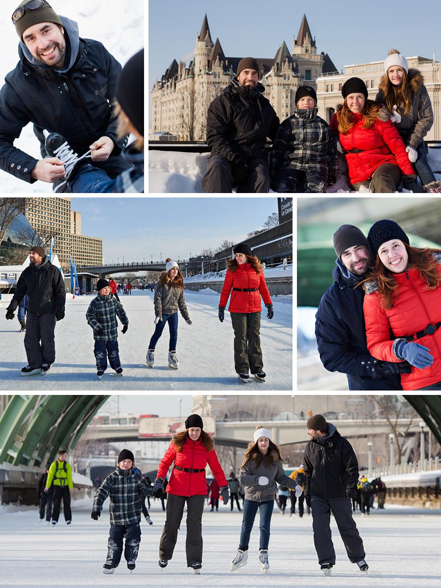 Sophie et sa famille sur le Canal Rideau