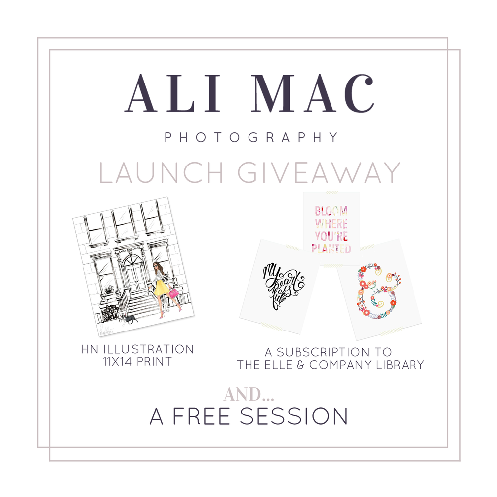 Launch Giveaway - Ali Mac Photography
