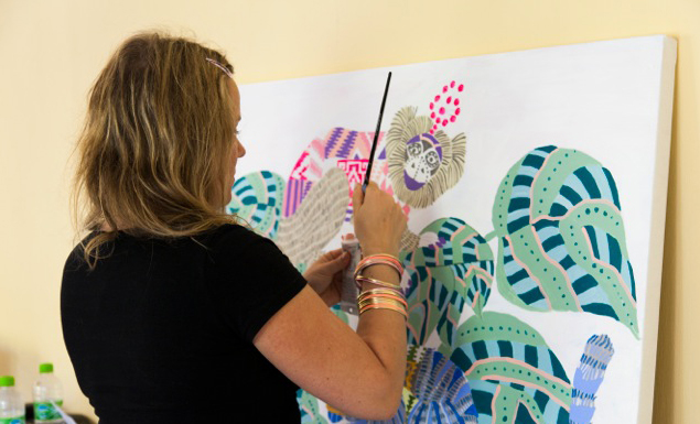 Lisa Grue / Live Painting