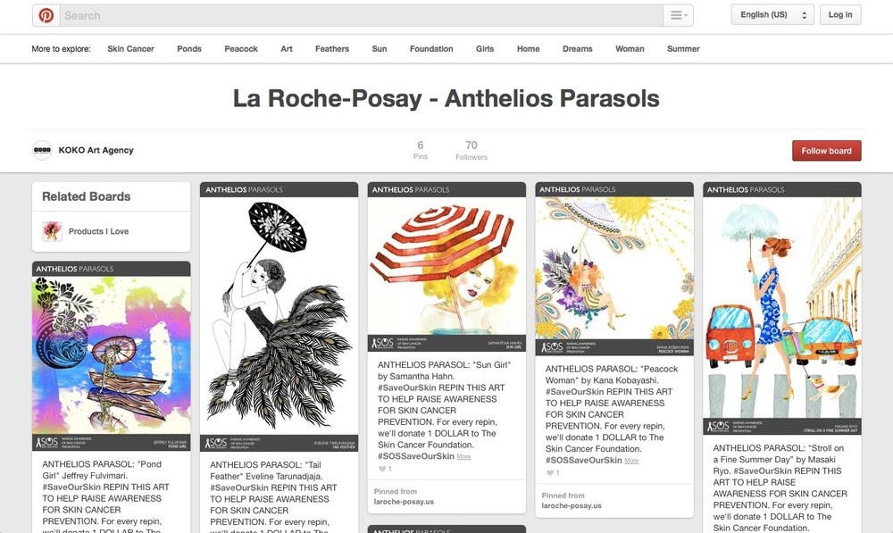 "VARIOUS ARTISTS / La Roche-Posay ""Anthelios Parasols"" Campaign"