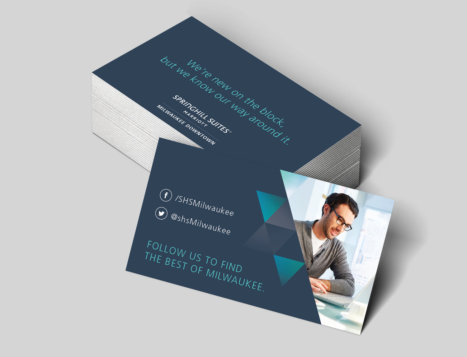 Springhill Suites Milwaukee Social Cards — Claire Meyer Design