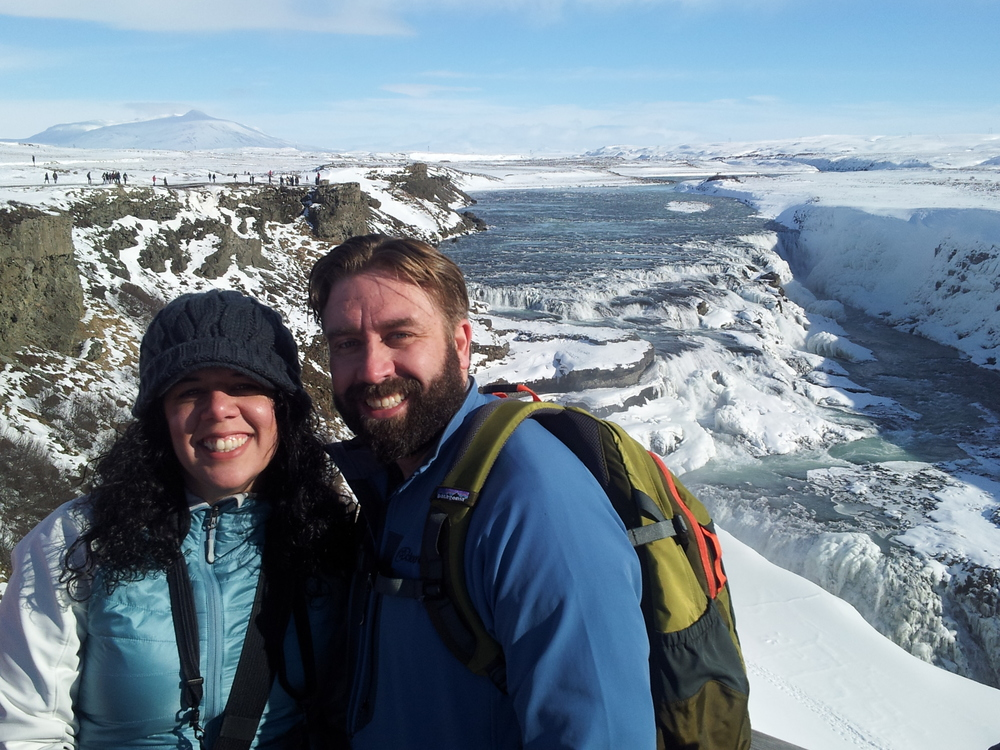 Greg and I at Gullfoss Waterfall in Iceland