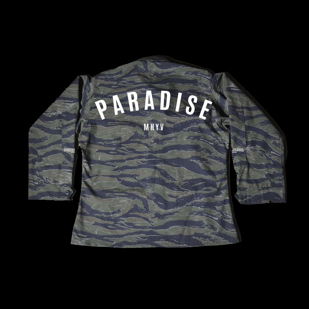 "With Black Friday upon us, here is your chance to Pre Order our Paradise Tiger Camo ""Rip Stop"" Jacket. Customers who Pre Order this item will guarantee to receive theirs on Black Friday.This item will be offered by pre order in limited quantities first. Any remaining jackets will be available on Black Friday on a First Come First Serve Basis. Act quickly and order yours Today !   