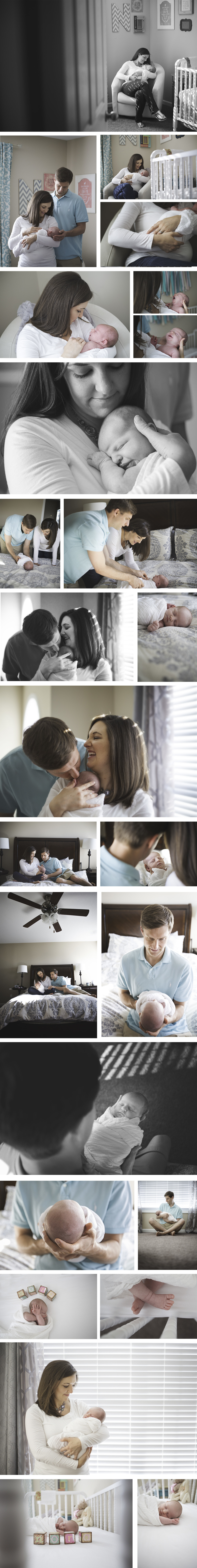 Goins newborn lifestyle session knoxville photographer